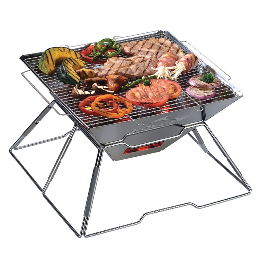 KOVEA Magic BBQ KCG-1503 Camping Steel Grill, hiking, camping, outdoor, adventure, activity, bbq, gathering, family